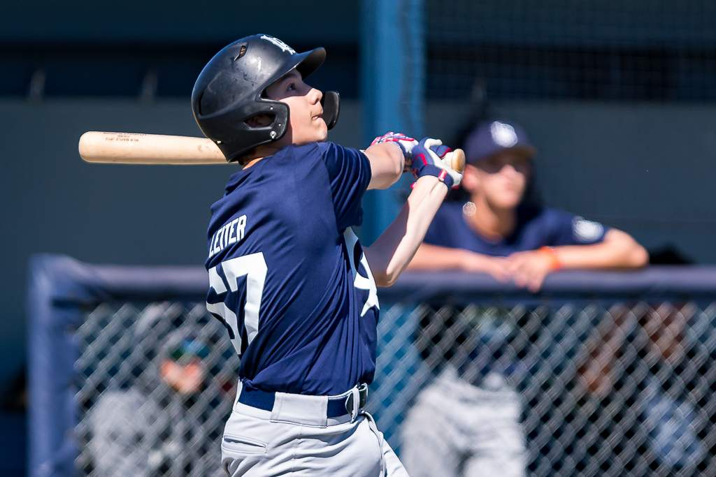 April 28, 2019, Victoria, BC - A two-RBI single from Langley's Cam Leiter would cap off a four-run 5th inning and seal the Blaze's 5-2 win in game two Sunday (Photo: Christian J. Stewart)