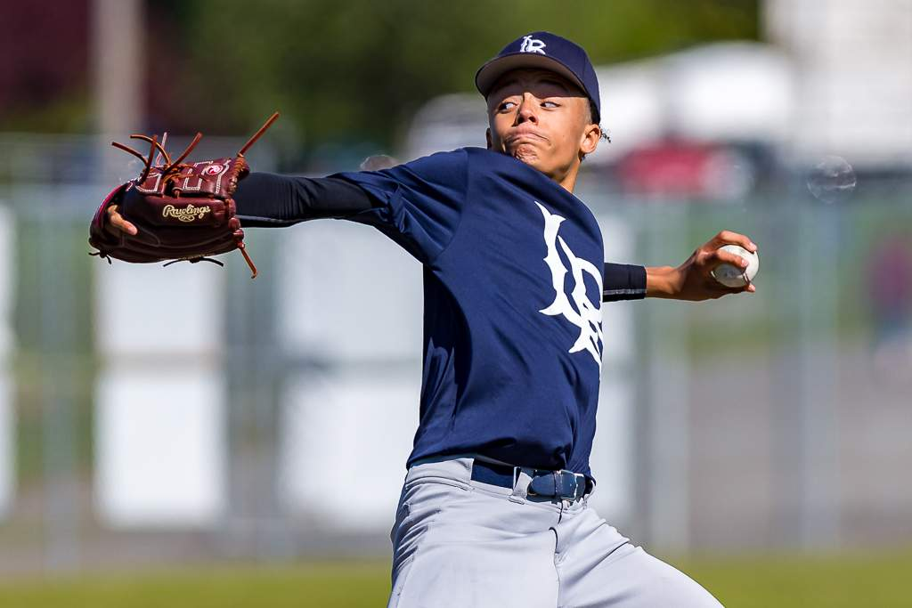 April 28, 2019, Victoria, BC - Langley reliever Reece Usselman would shut the  Eagles out over the final two innings in game two Sunday to earn the save (Photo: Christian J. Stewart)