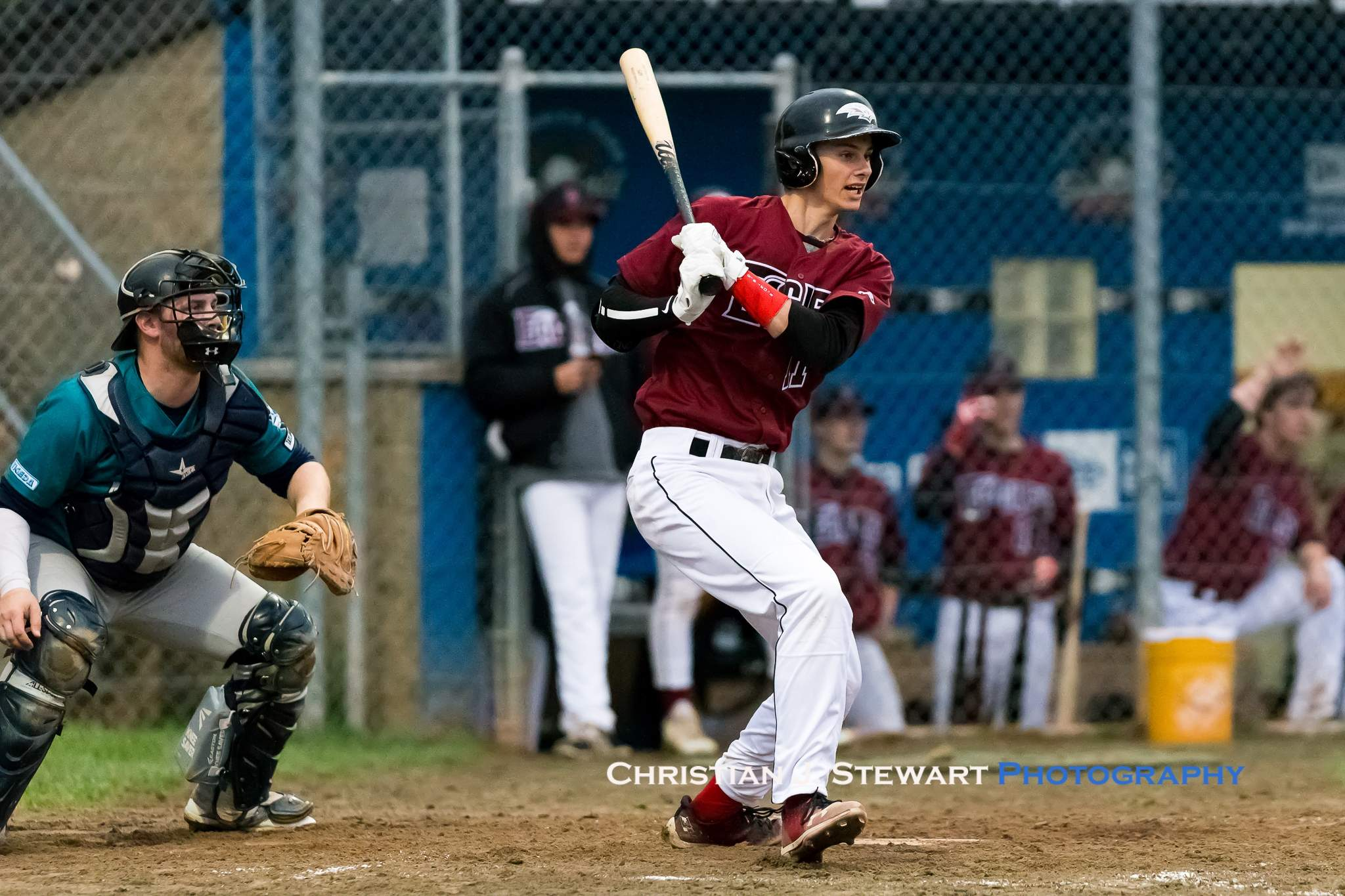 Victoria Eagle Jayden Cull would have a pair of hits, a walk and three runs scored to lead the Ealges offence in their 9-7 win over the Mariners (Photo: Christian J. Stewart)
