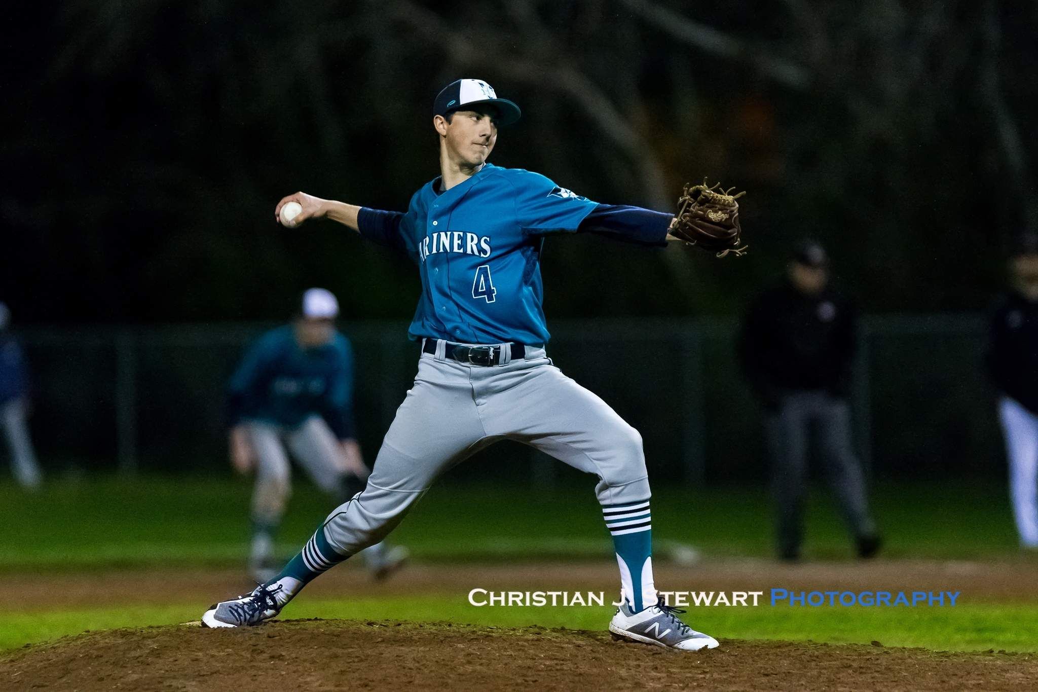 Victoria Mariner pitcher Aidan Heintz would keep the Eagles hitless and scoreless over the final two innings Tuesday, but it was too little too late as the Mariners fell to the Eagles 9-7 (Photo: Christian J. Stewart)
