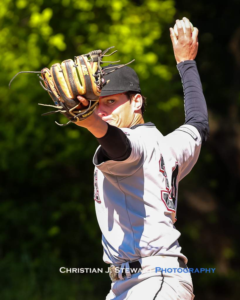 April 28, 2019, Victoria, BC - North Shore Twins starter Graham Seltzer would go the distance in the Twins 5 inning, 14-1 win over the Mariners (Photo: Christian J. Stewart)