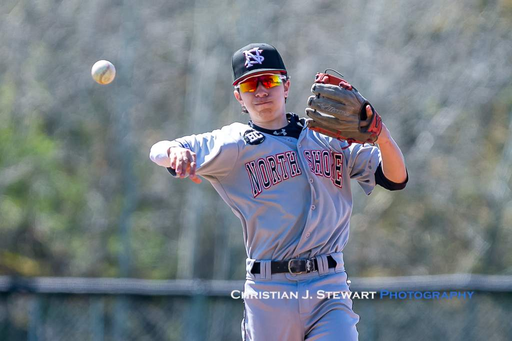 April 28, 2019, Victoria, BC - Twins shortstop Anthony Setticasi makes a throw against the Mariners Sunday (Photo: Christian J. Stewart)