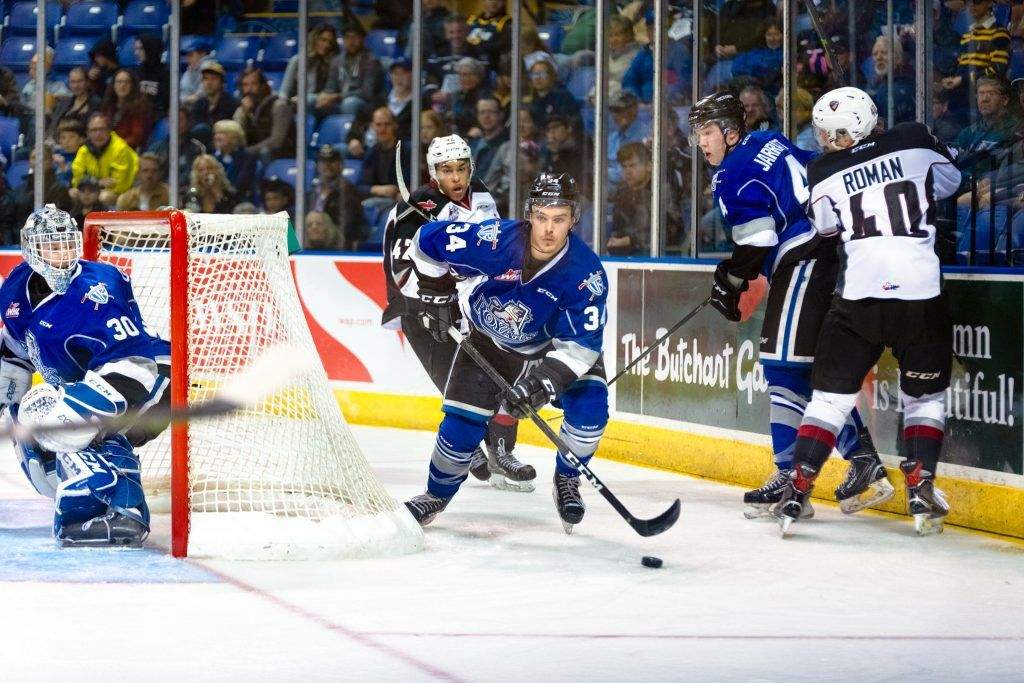Victoria Royals Kaid Oliver (34) is  listed as out indefinitely with an upper-body injury.