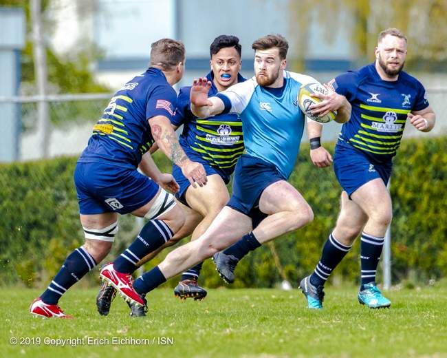 """April 6, 2019   Victoria, BC (ISN) - Vike's Head Coach Doug Tate on his team's play, """" We are very fast team. Ball possession is everything for us.""""  - Erich Eichhorn image (www.allsportmedia.ca)"""