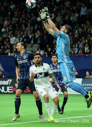 MLS Vancouver Whitecaps vs LA Galaxy April 5 2019 BC Place Copyright Simon Fearn ISN