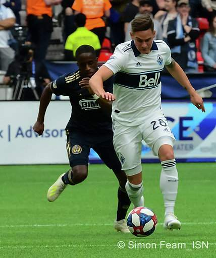 MLS Vancouver Whitecaps vs Philadelphia Union April 27 2019  BC Place  Copyright Simon Fearn