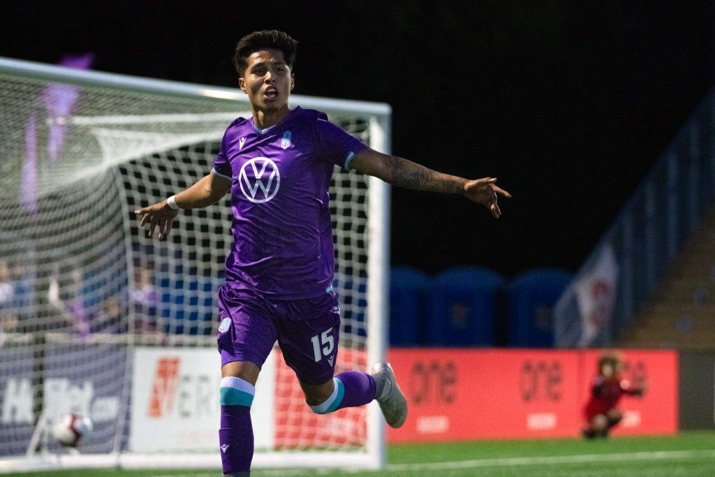 Pacific FC only goal scored by Jose Hernandez. Photo by Gord Rufh ISN Sports
