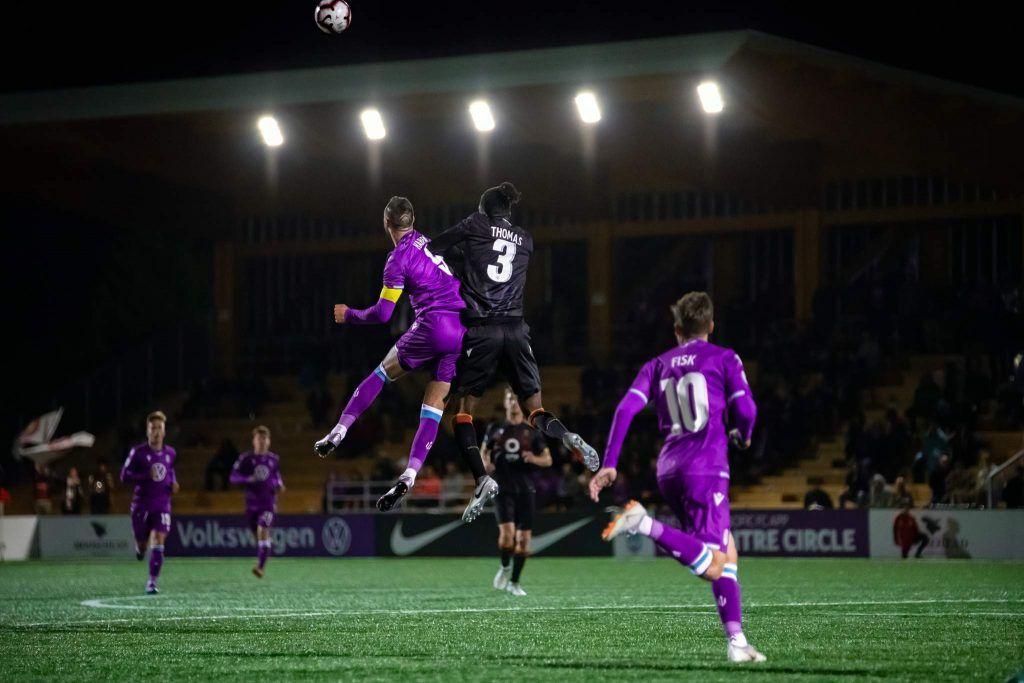 Pacific FC Loses to Valour FC 2-1 at Westills. Photo by Gord Rufh ISN Sports