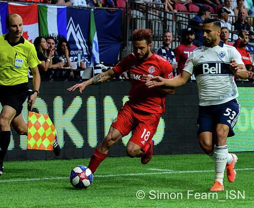 MLS  Whitecaps vs Toronto  BC Place  May 31 2019 Copyright Simon Fearn