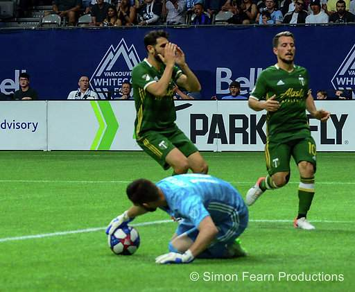 MLS Whitecaps vs Portland BC Place May 10 2019 Copyright Simon Fearn ISN