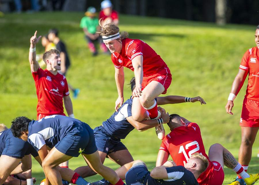 June 8th, 2019 Victoria (ISN) - An agreesove Canadian side would turn up the pressure on USA in the second half with efforts like this - Erich Eichhorn image (www.allsportmedia.ca)