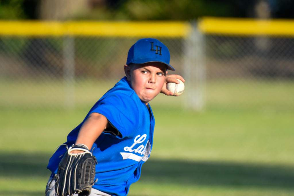 'South Paw' Jack Willington was pitching a strong game for Lakehill. Photo by Gord Rufh ISN Sports