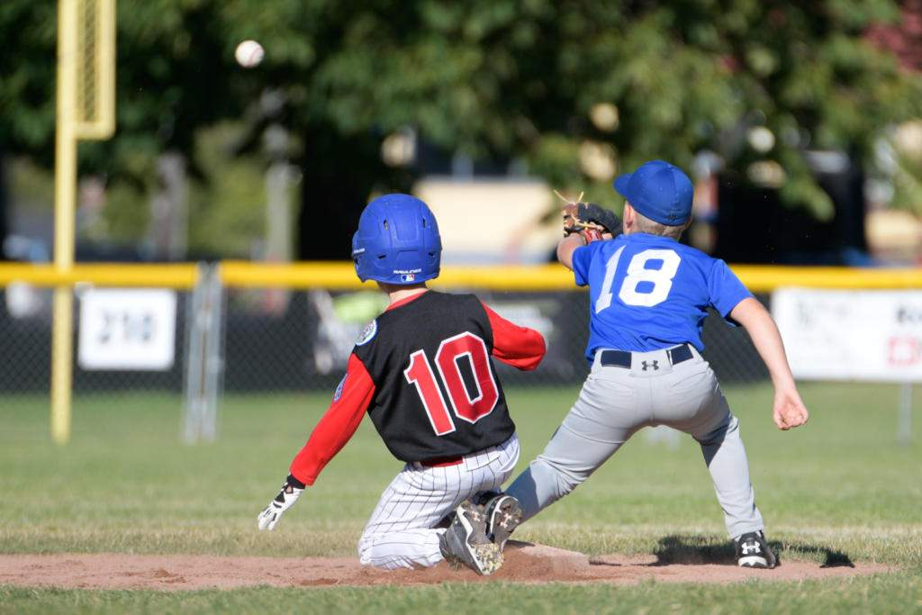 Lakehill taking on Central Saanich at the District 7 Little League Championship. Photo by Gord Rufh ISN Sports