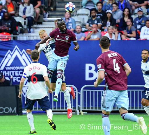 MLS  Whitecaps vs Colorado Rapids BC Place  June 22nd 2019 Copyright Simon Fearn ISN