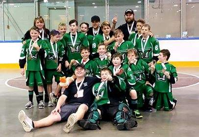 JDF peewee B1 after winning Bronze at bc lacrosse provincial Championships 2019.Photo by Tiffany Tippie Magionas