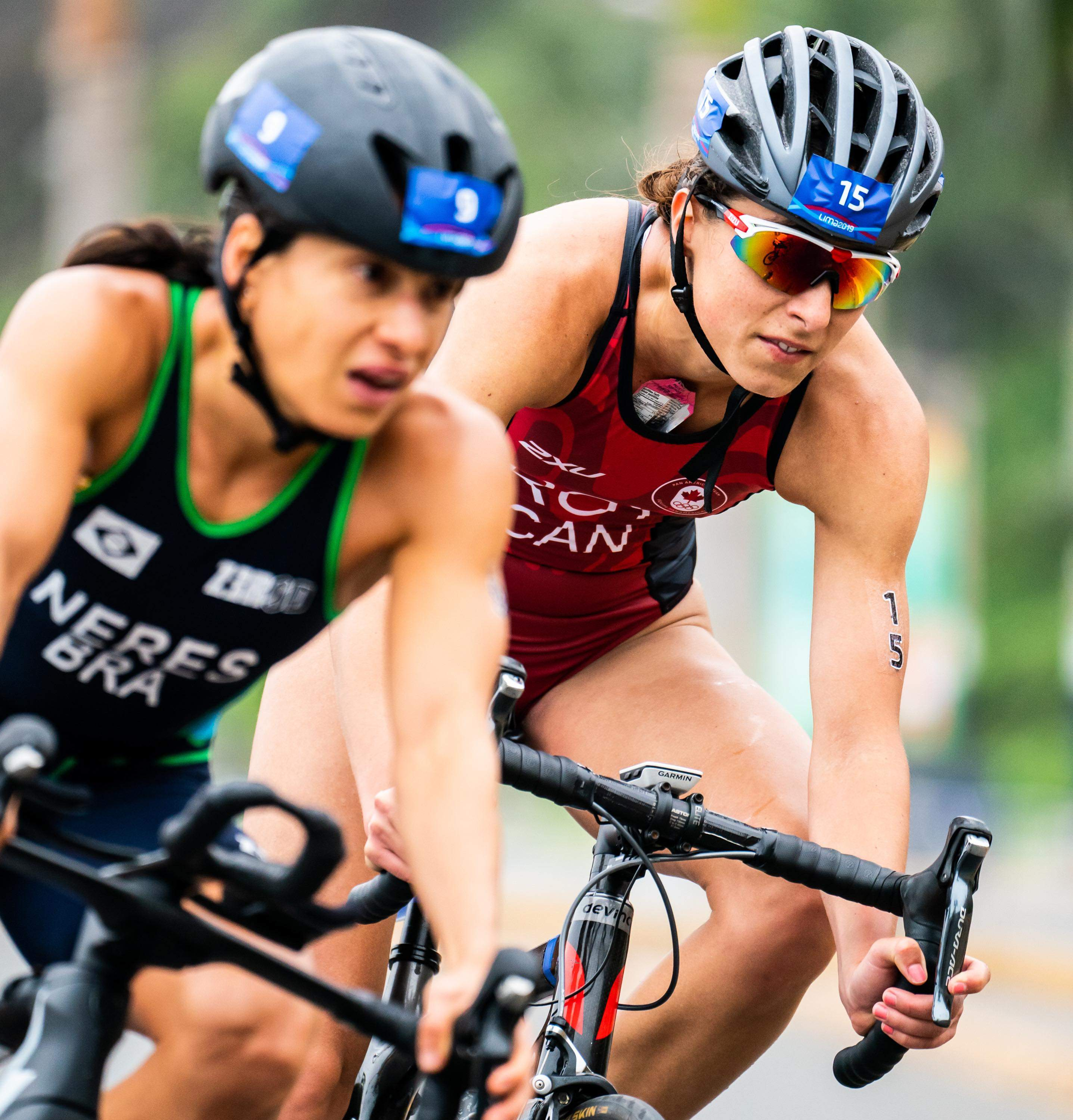 LIMA, Peru -  Karol-Ann Roy competes in the women's triathlon at the Lima 2019 Pan American Games on July 27, 2020. Photo by {photog}/COC