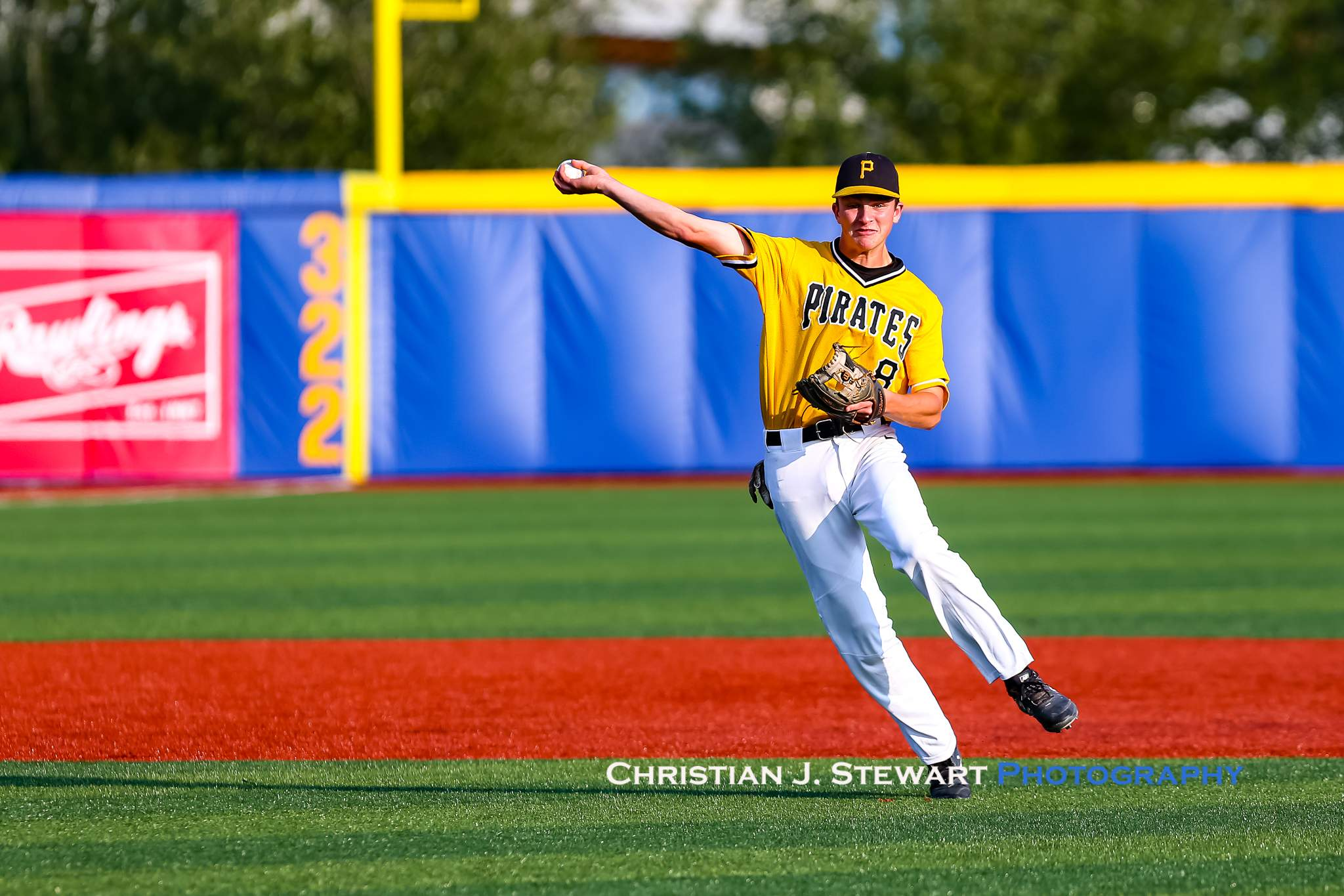 Nanaimo shortstop Marcus Steen makes a nice play against UBC Friday night (Photo: Christian J. Stewart)