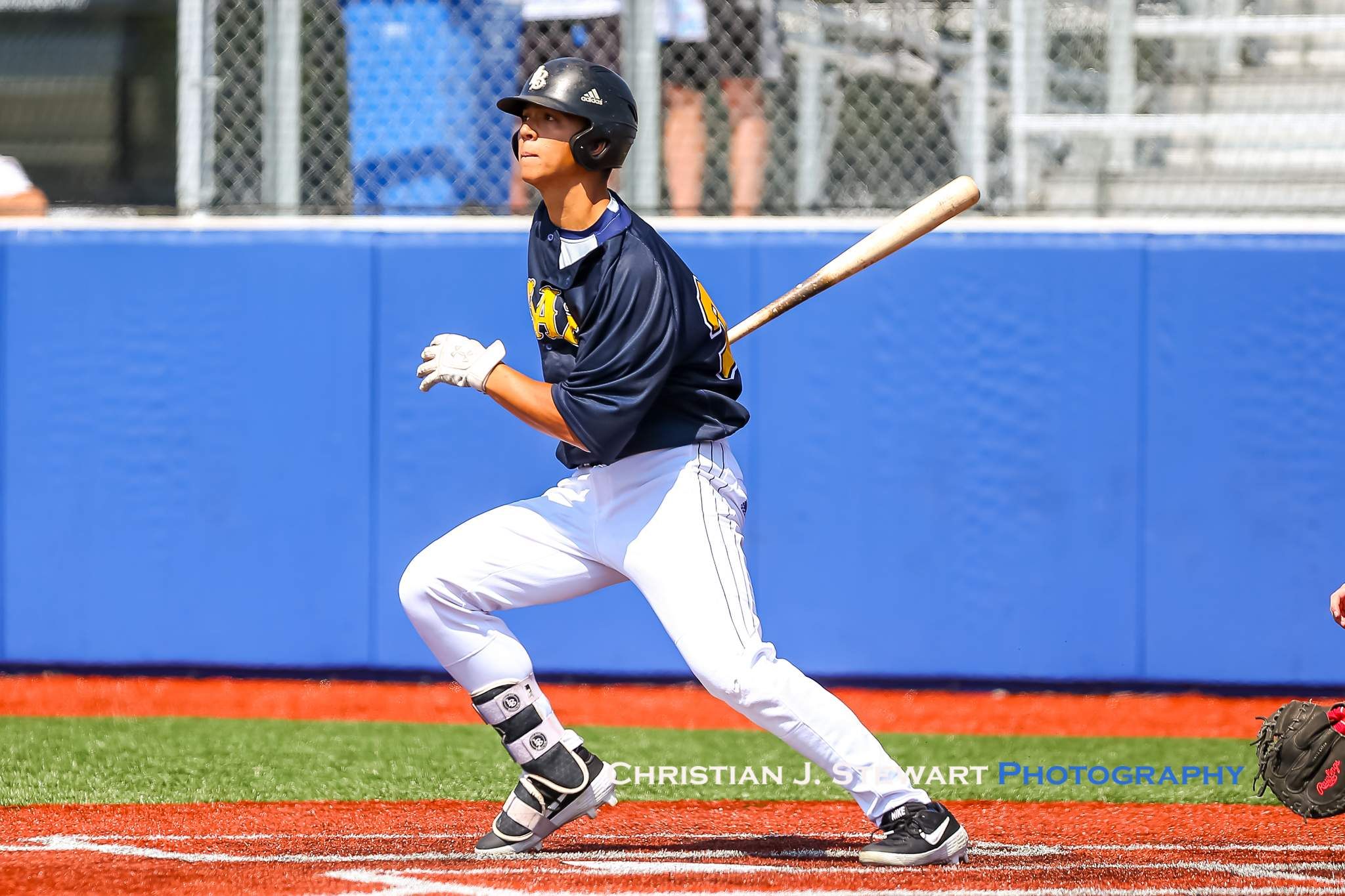 Langley's Justin Thorsteinson would get his team started Saturday with a two-RBI double (Photo: Christian J. Stewart)