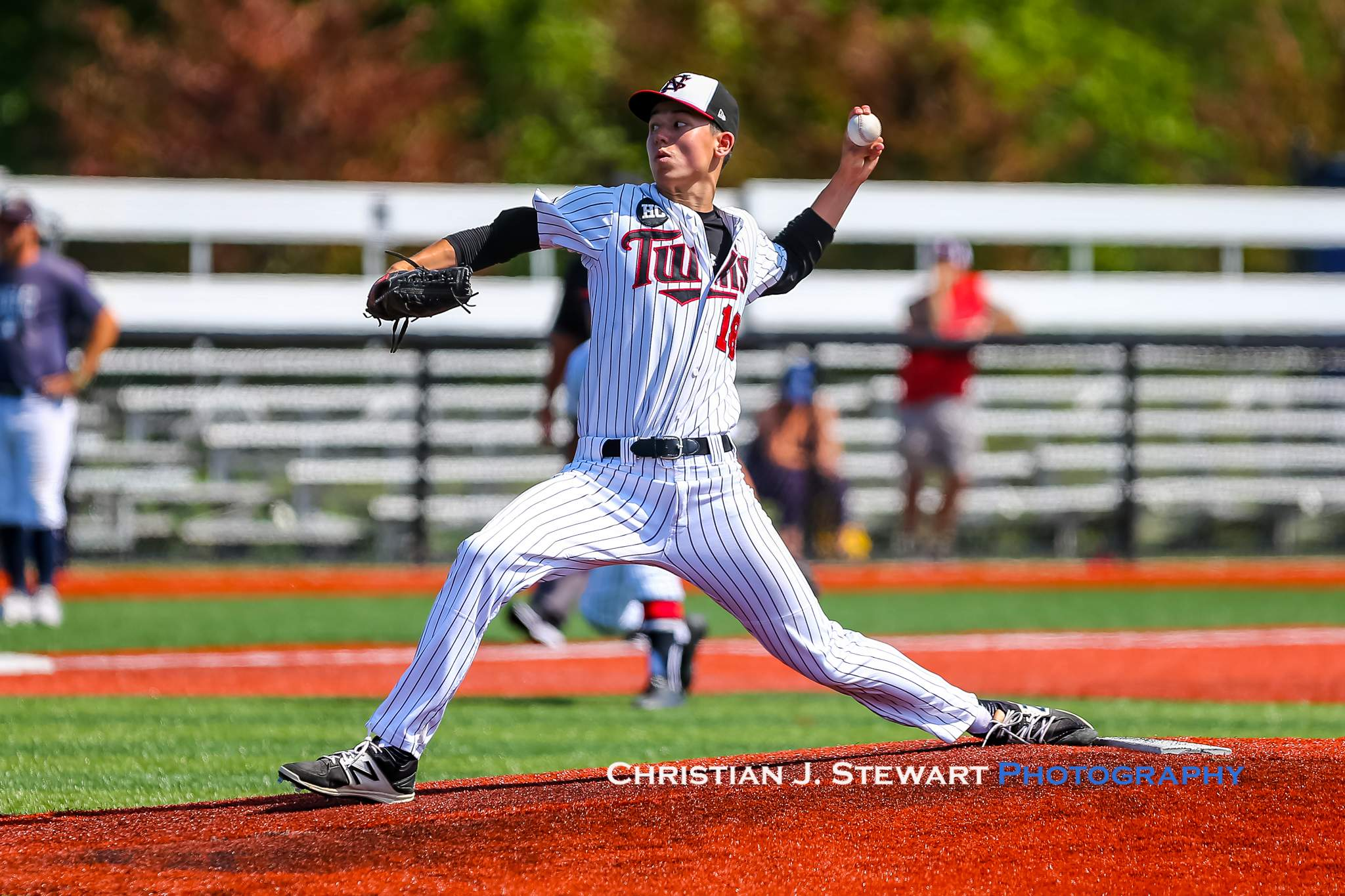 The Twins Joseph Sinclair got the win Sunday, going 5 full innings and giving up just two Thunder runs on five hits (Photo: Christian J. Stewart)