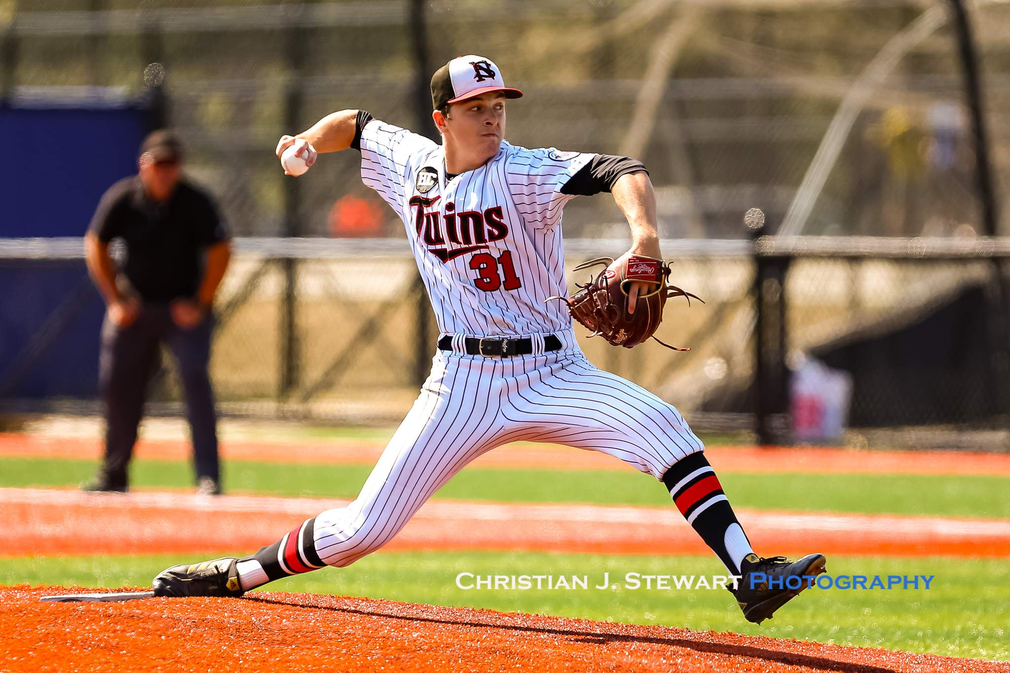 Liam Bates went the distance in the Twins victory over the Pirates (Photo: Christian J. Stewart)