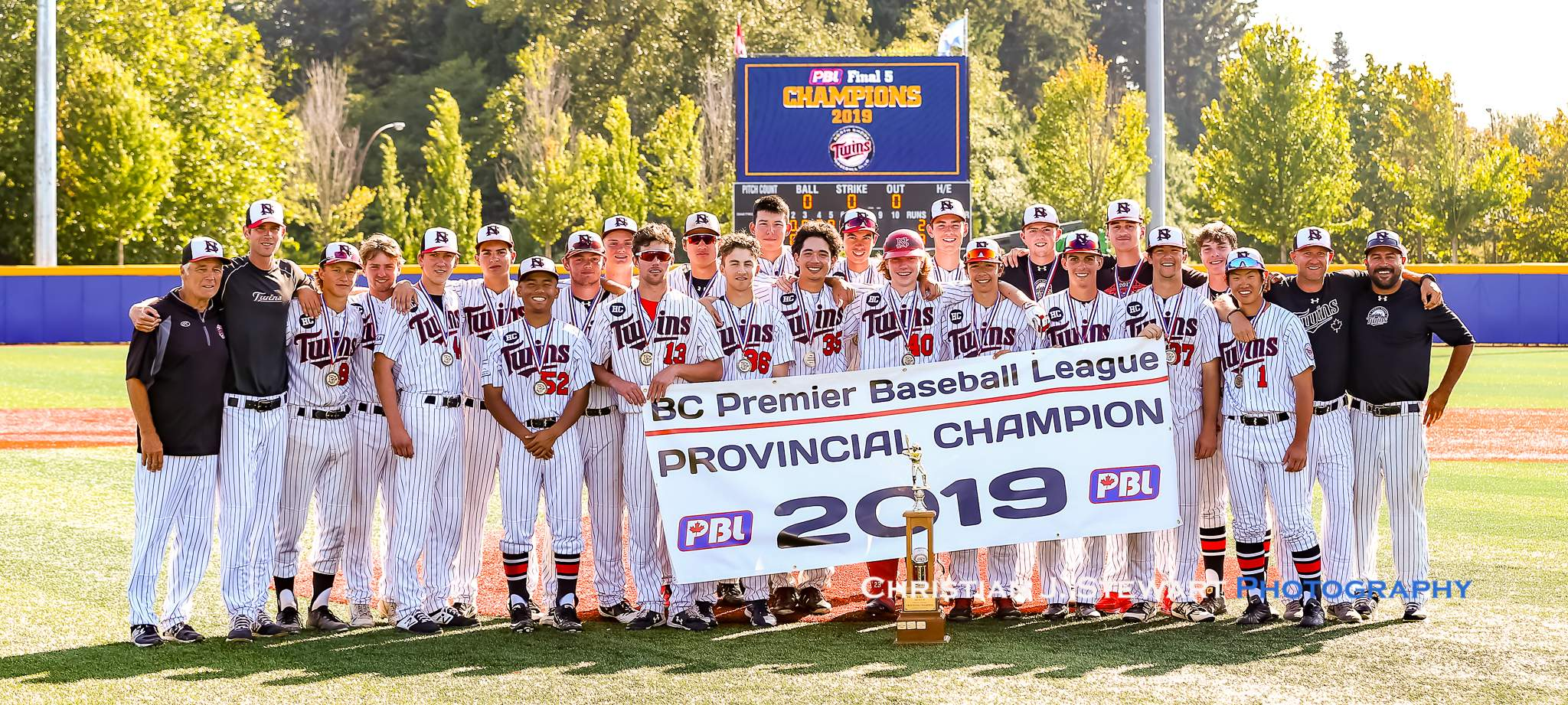 The 2019 BCPBL Champion North Shore Twins (Photo: Christian J. Stewart)