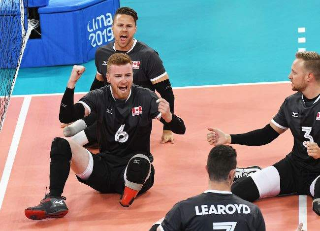 Sitting Volleyball Teams Playing For Bronze In Peru Isn