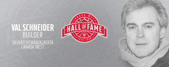 Val Schneider named first Canada West Hall of Fame inductee