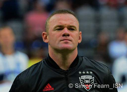Vancouver Whitecaps FC  1-0 victory against D.C. United Wayne Rooney at BC Place. Photo Simon Fearn ISN