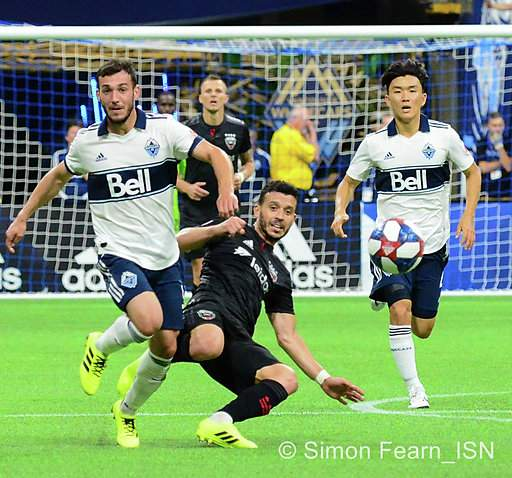 Vancouver Whitecaps FC  1-0 victory against D.C. United at BC Place. Photo Simon Fearn ISN