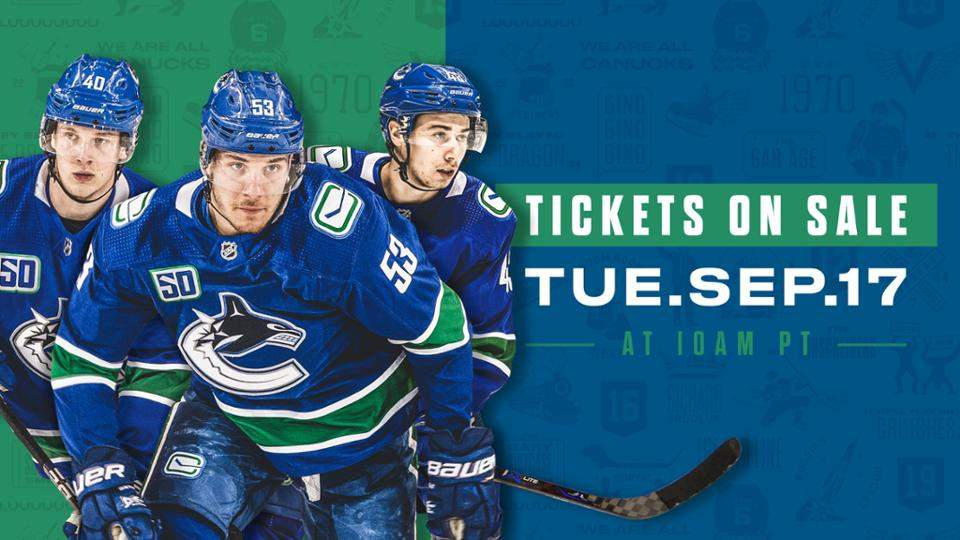 Canucks Single Game Tickets Expected to Sell Quickly...
