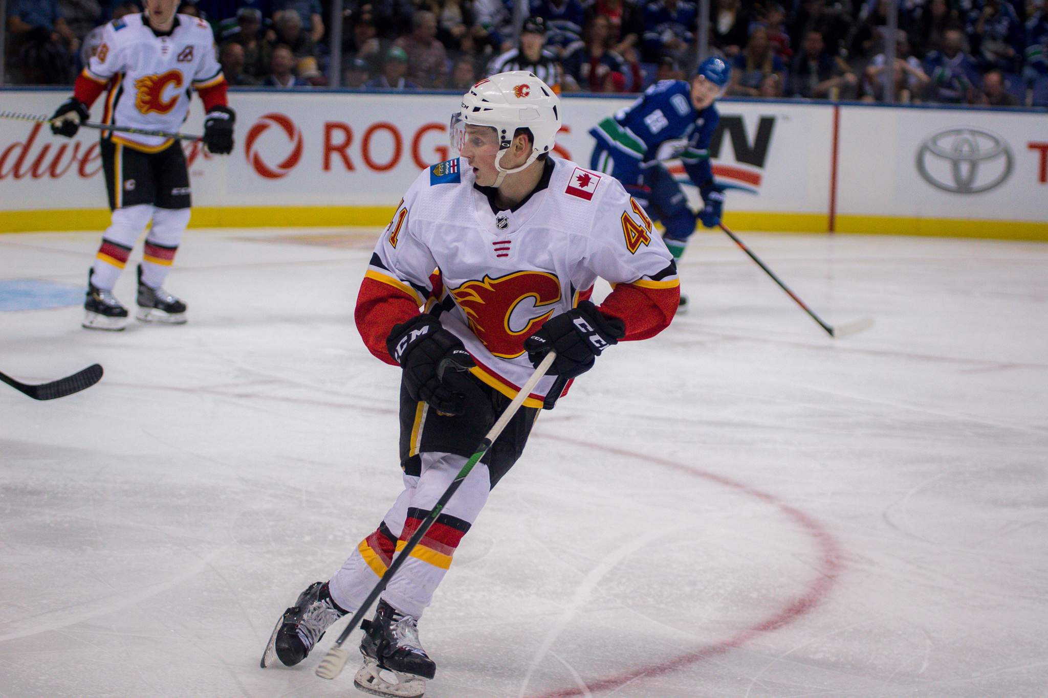 Former Royals captain Matthew Phillips playing in Victoria for the Flames. Photo by Nathanael Laranjeiras