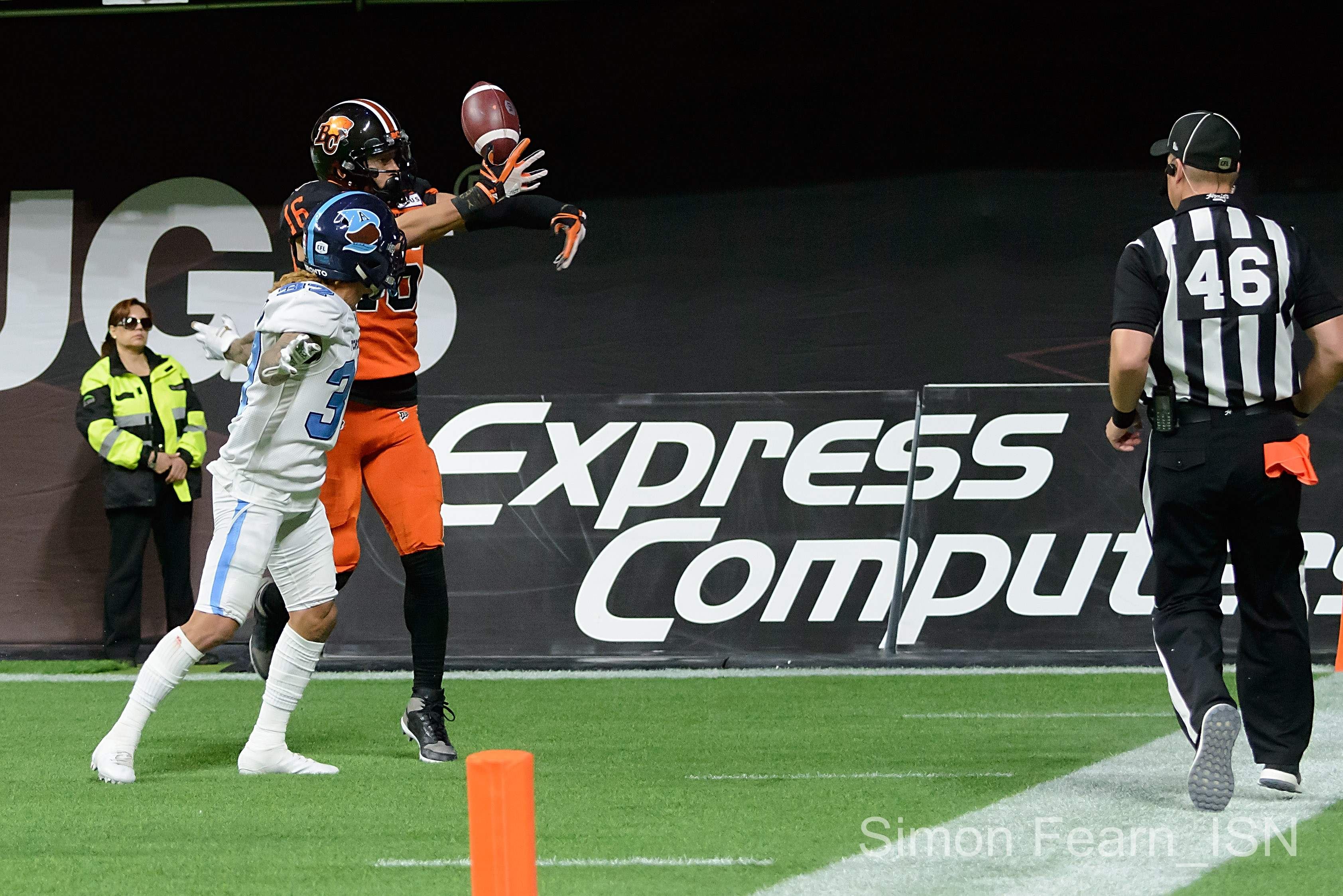BC Lions vs Toronto Argonauts,Photo Simon Fearn ISN