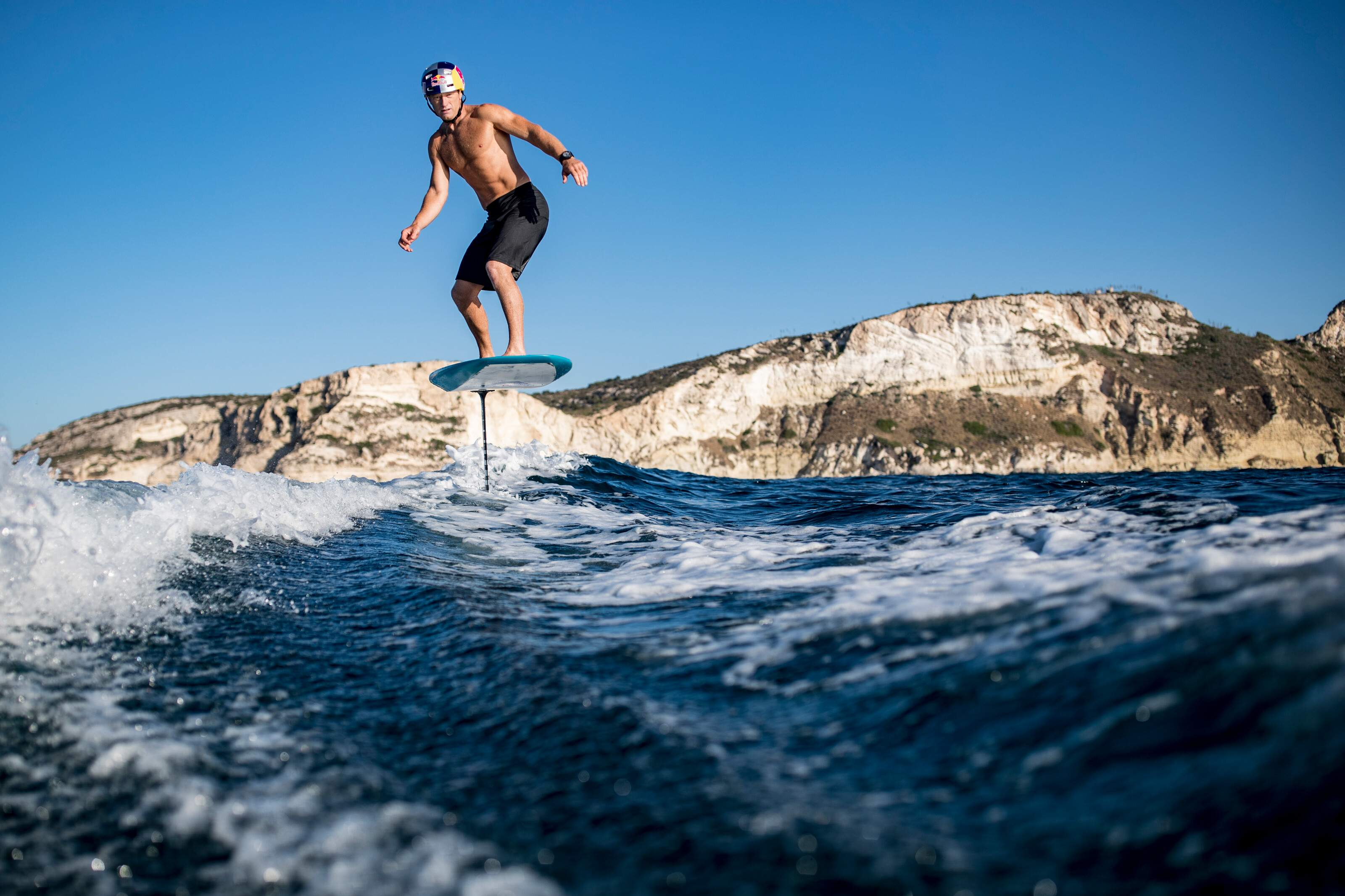 James Spithill (AUS) trains in Cagliari, Italy on August 15, 2019. Photographer Credit: Samo Vidic/Red Bull Content Pool