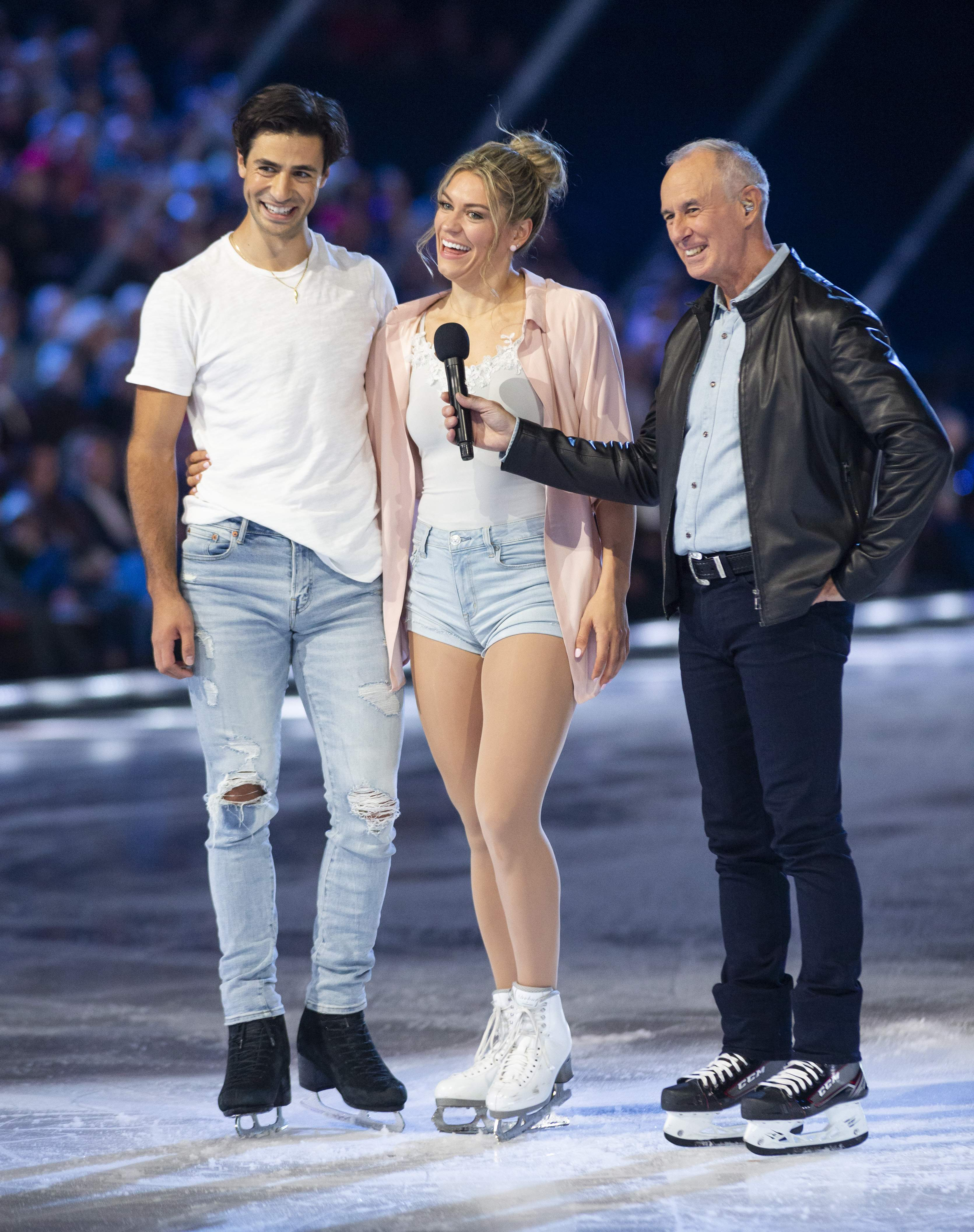 Natalie Spooner and Andrew Poje and Ron Maclean
