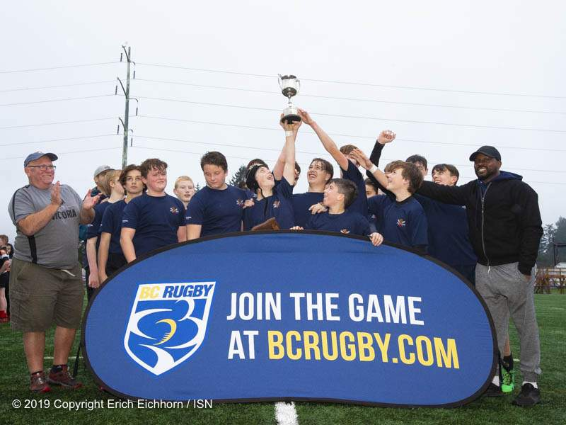 December 7, 2019 Victoria, BC (ISN) - 2019 U15 champions James Bay - Erich Eichhorn (www.allsportmedia.ca)