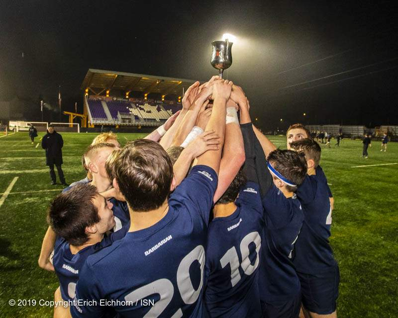 December 7, 2019 Victoria, BC (ISN) - U17 James Bay Hoists the cup - Erich Eichhorn (www.allsportmedia.ca)