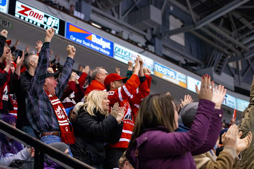 Fans Celebrate after Canada scored the game winning goal. Photo by Nathanael Laranjeiras ISN