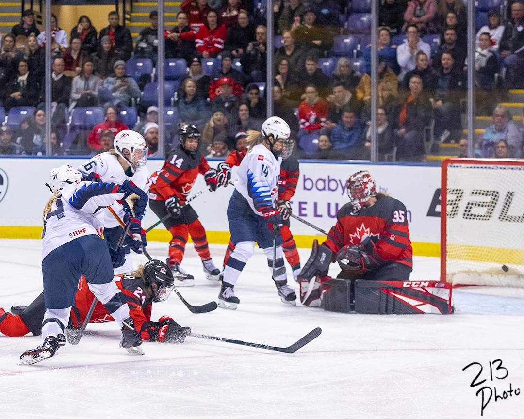 Canada vs USA Women's Hockey  Photo by Nathanael Laranjeiras ISN