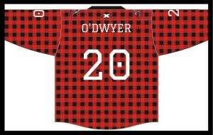 With the 39th pick, the Nanaimo Timbermen select Aidan O'Dwyer.