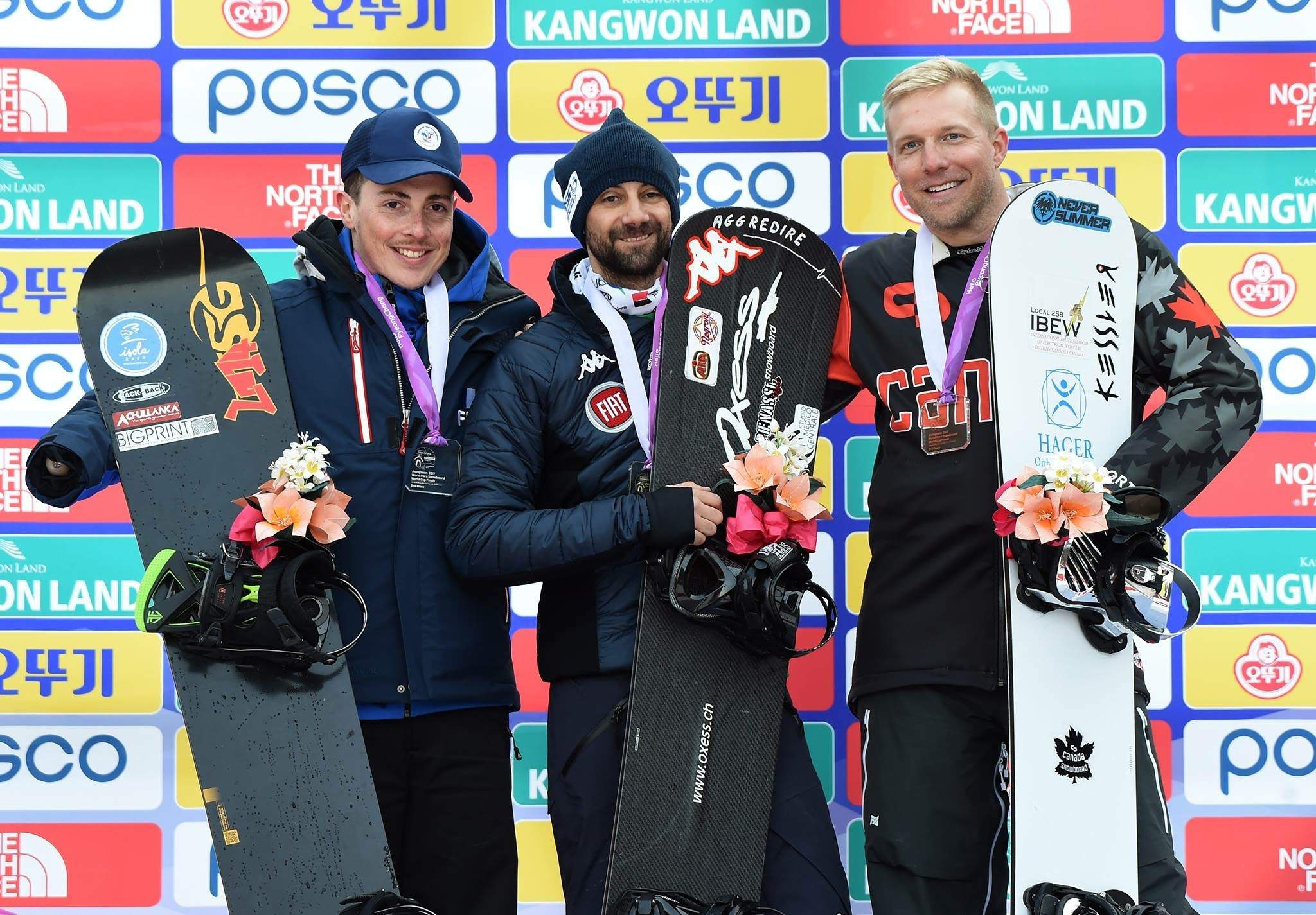 Minard winning Bronze at the 2017 Para World Cup in Pyeongchang