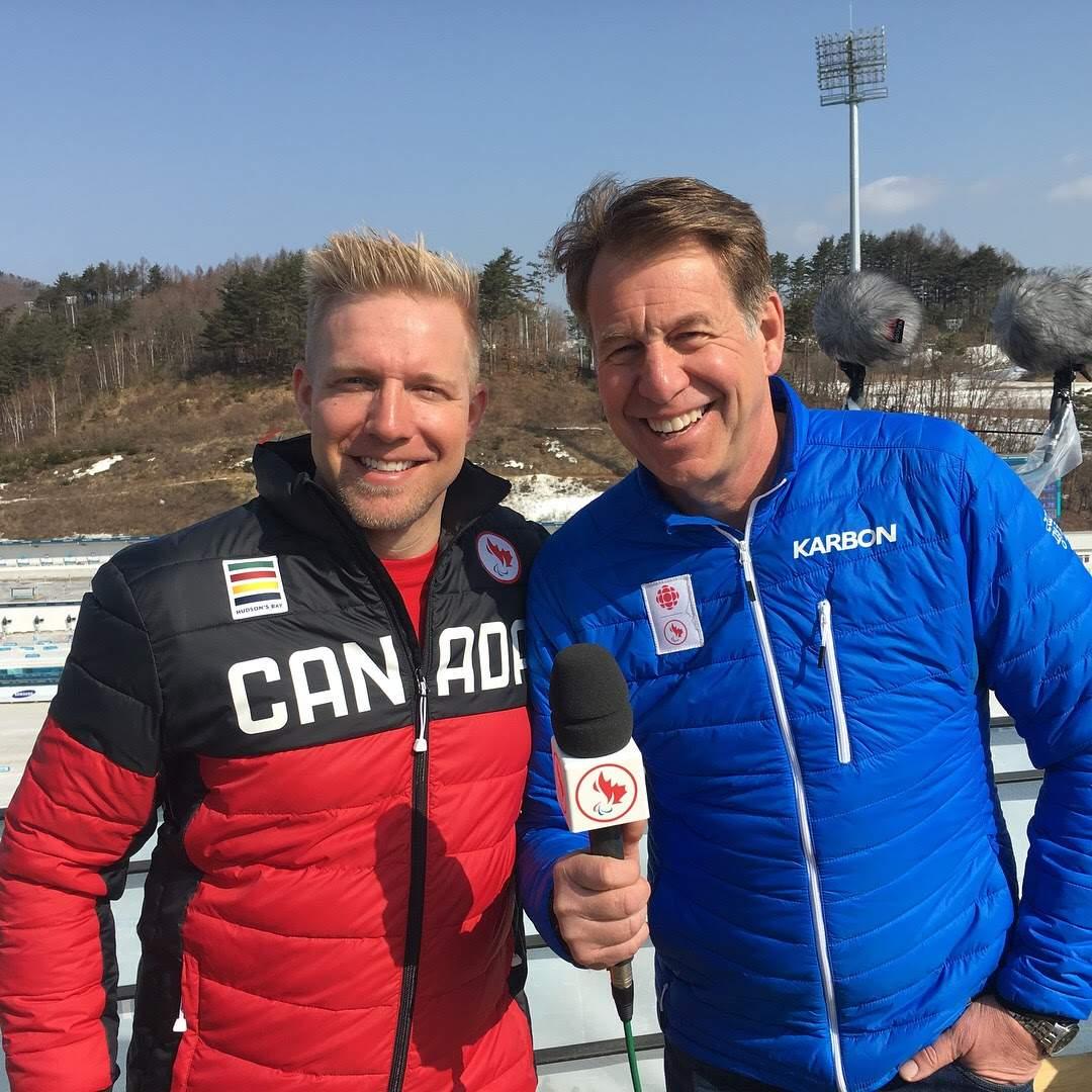 Minard being interviewed by legendary Scott Russell at CBC