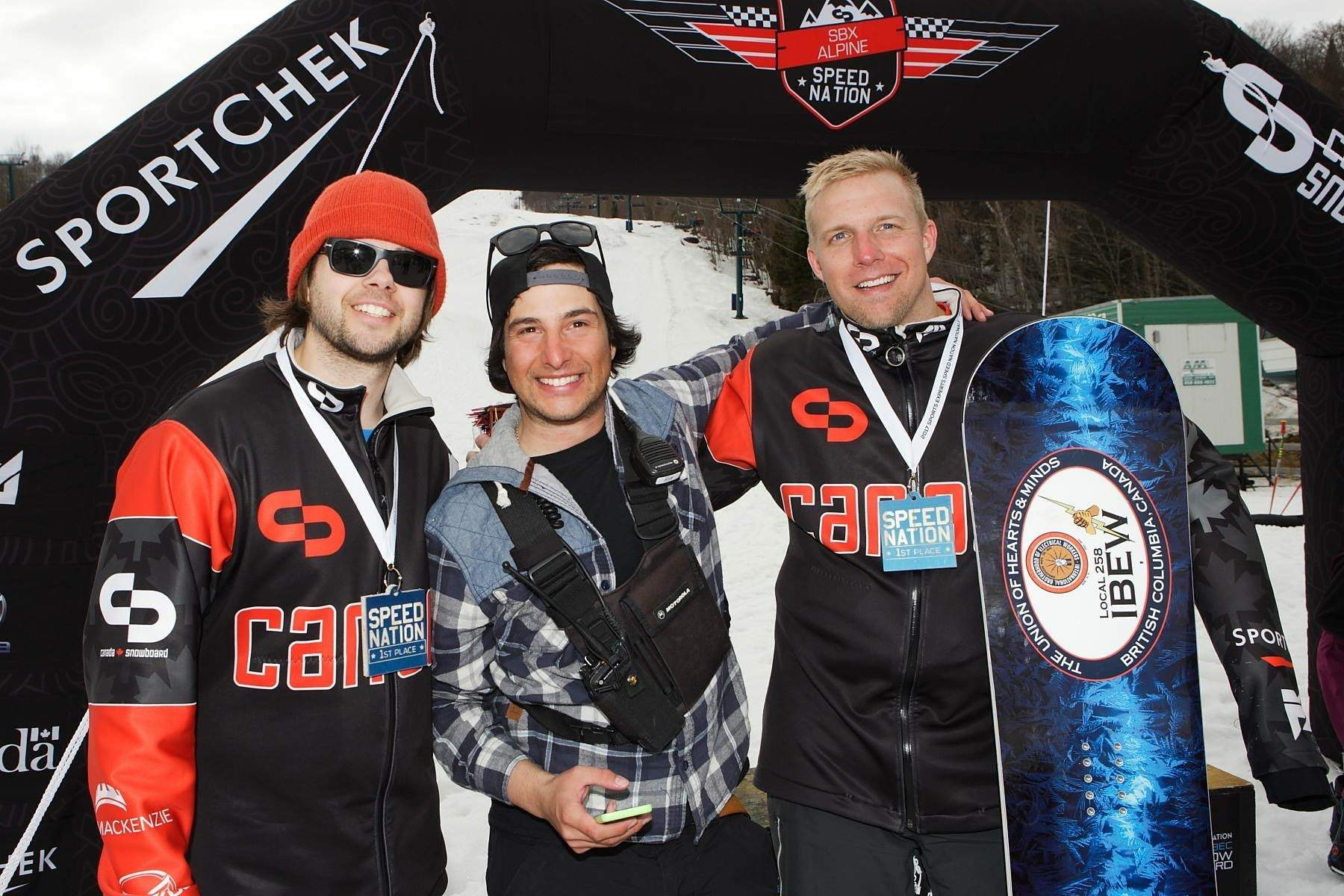 3-time Canadian National Champion, Minard seen on right