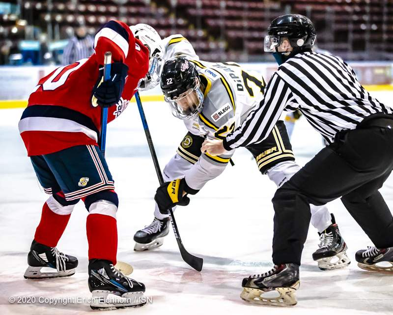 October 24, 2020. Victoria, BC (ISN) - Victoria Grzzlies vs Cowichan Valley Capitals