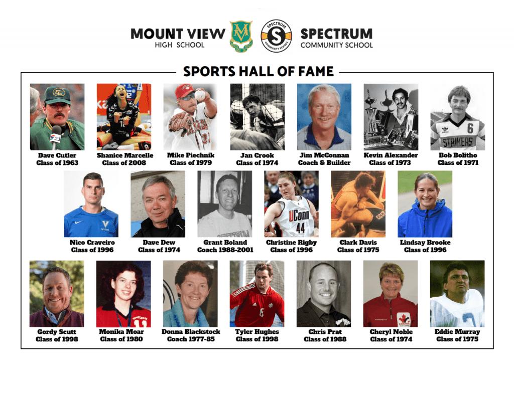 2021 Inductees - Mt View & Spectrum HOF