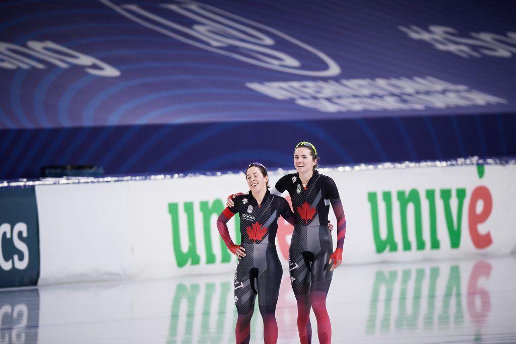 2021.02.11, The Netherlands, Heerenveen, ThialfISU World Speed Skating Championships Heerenveen 2021Valerie Maltais, Isabelle WeidemannCredit: Rafal Oleksiewicz/Speed Skating Canada