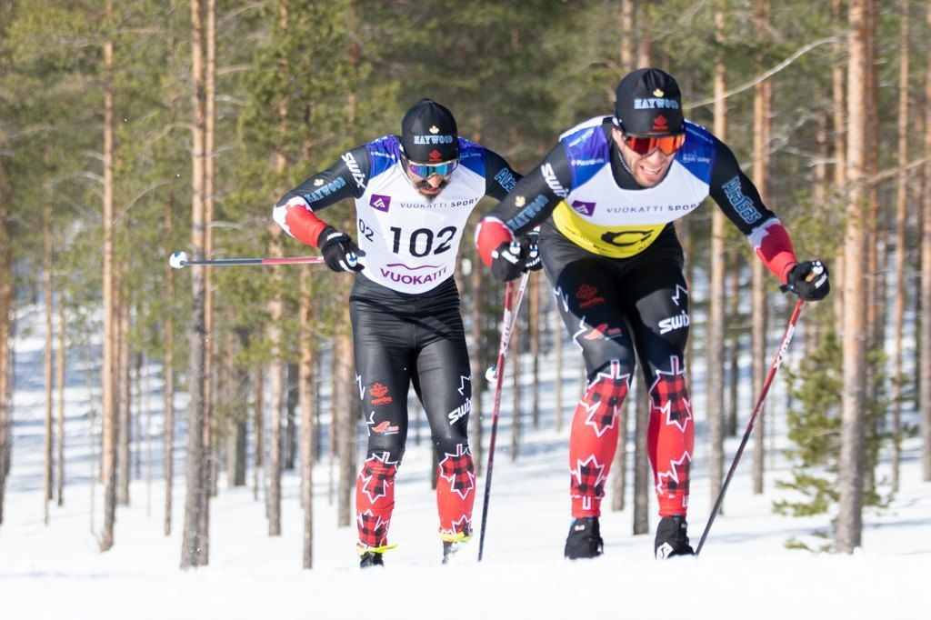 Brian McKeever and Russell Kennedy strike gold. Photo Credit Heidi Lehikoinen